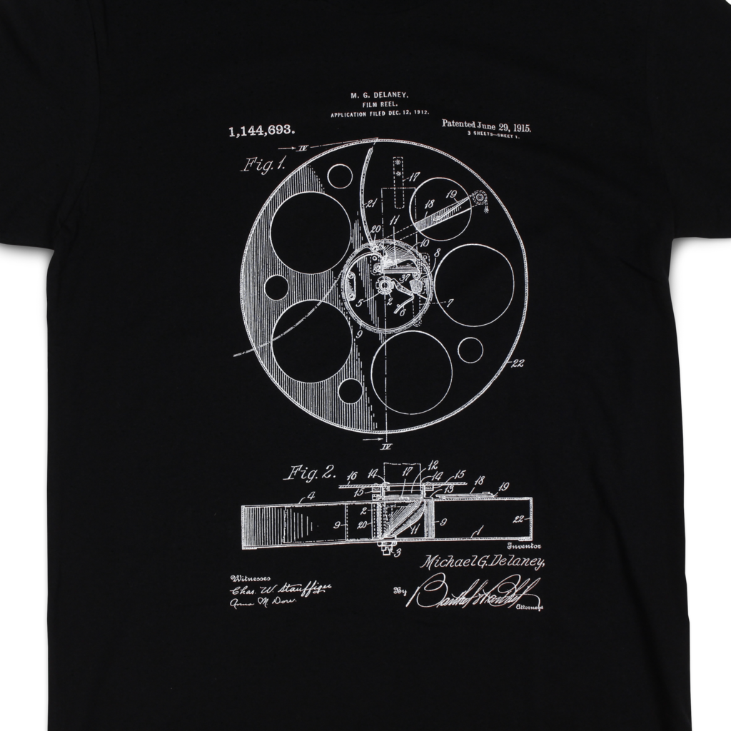 Film Reel Patent T-Shirt