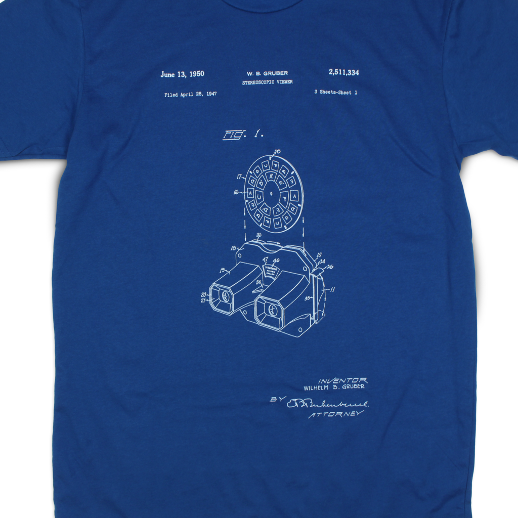 Stereoscopic Viewer Patent T-Shirt