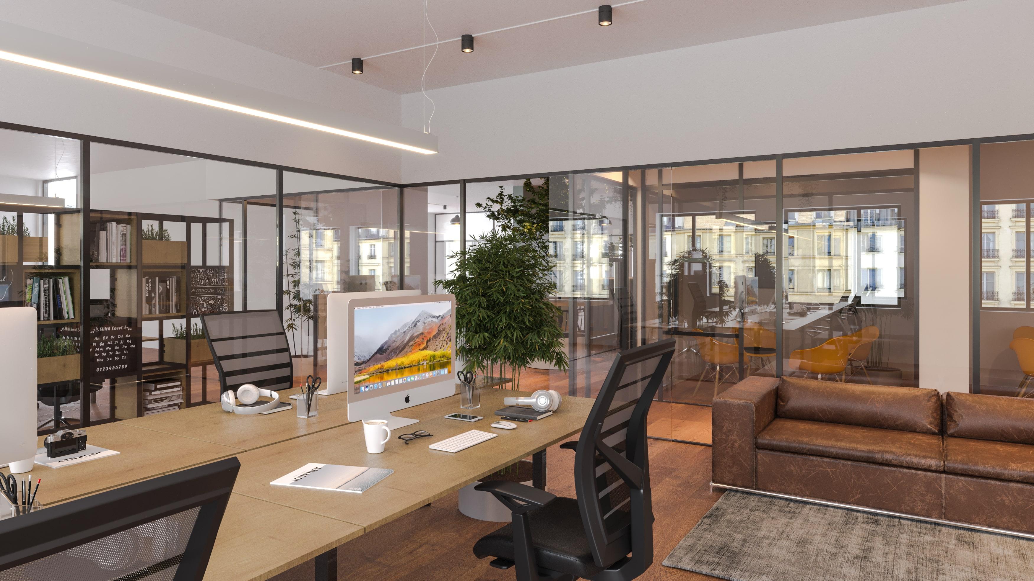 Bürobereich in der Fix Zone des Solaris Büros