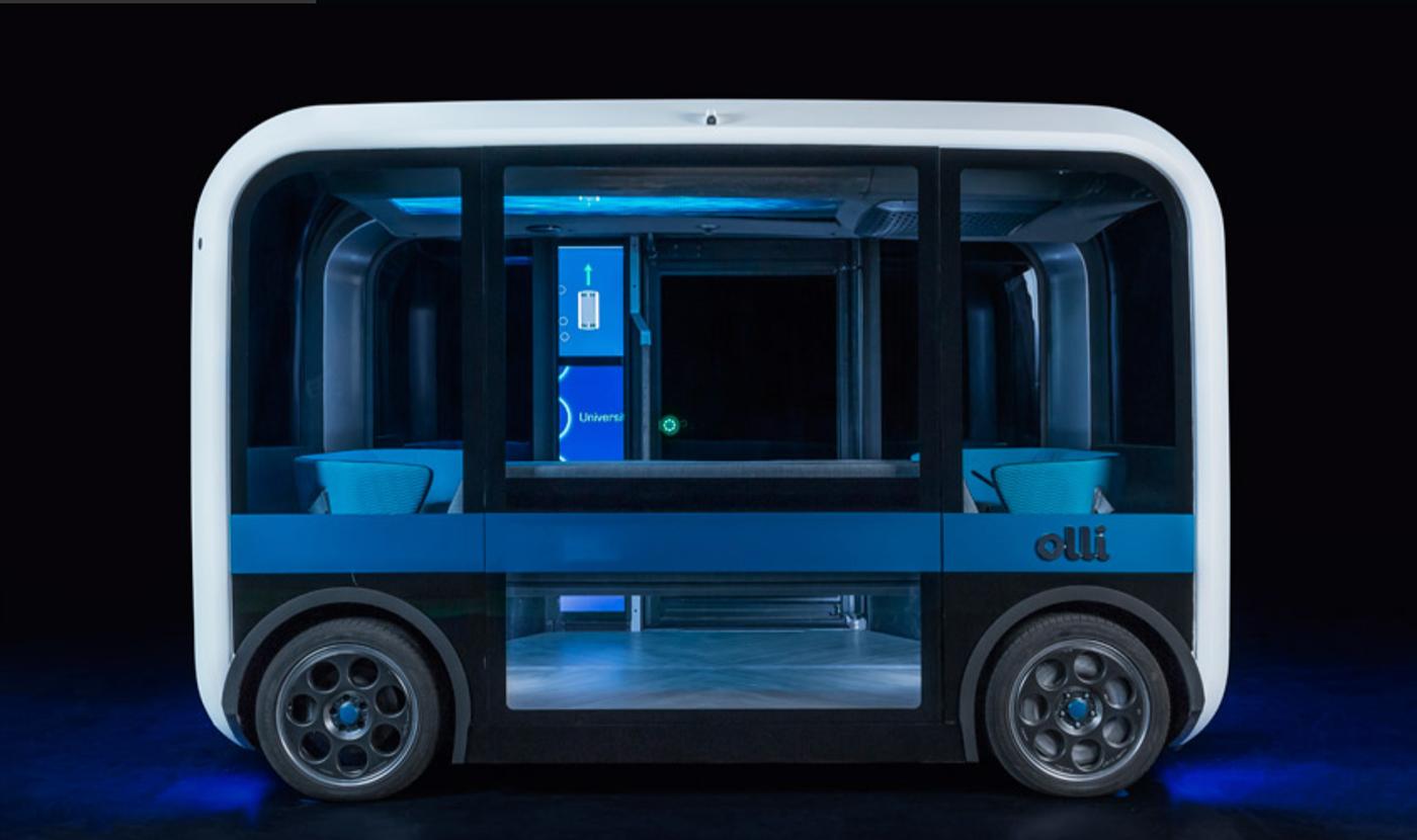 Umgestaltung des elektrischen Fahrzeugs von Airbus zum Meetingraum