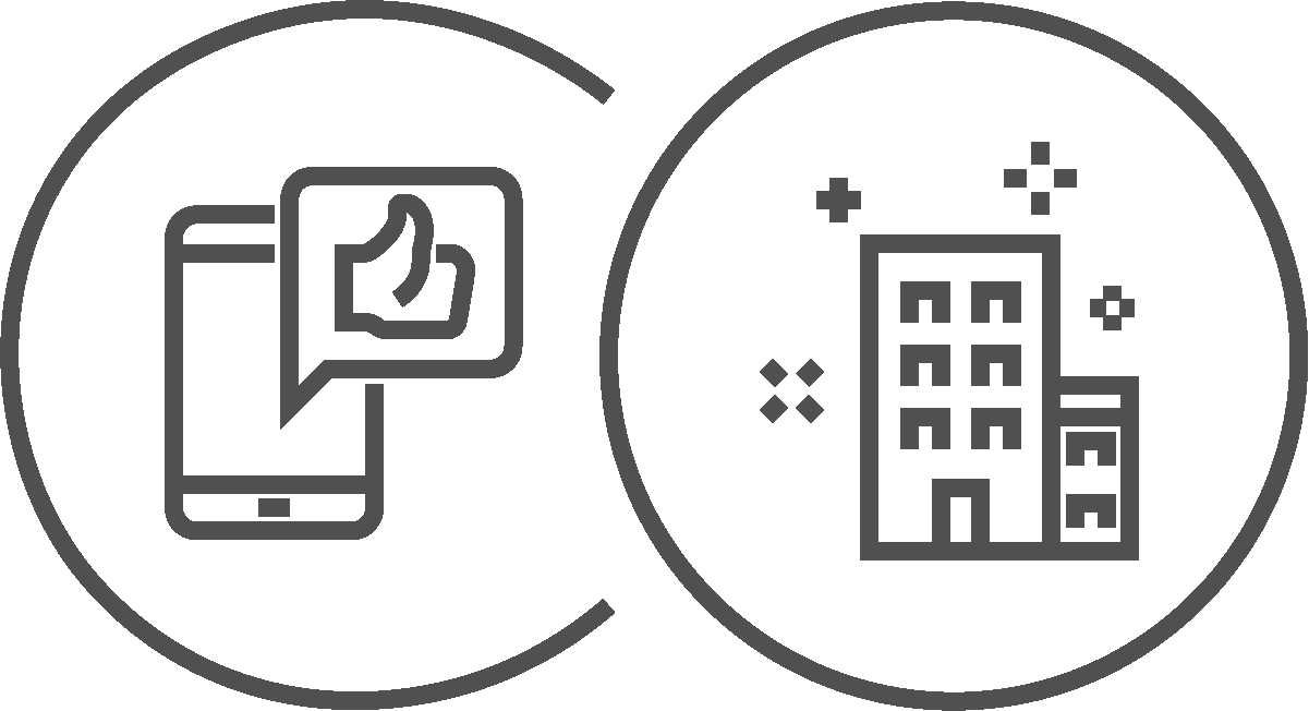 Immobilienvermarktung Icons