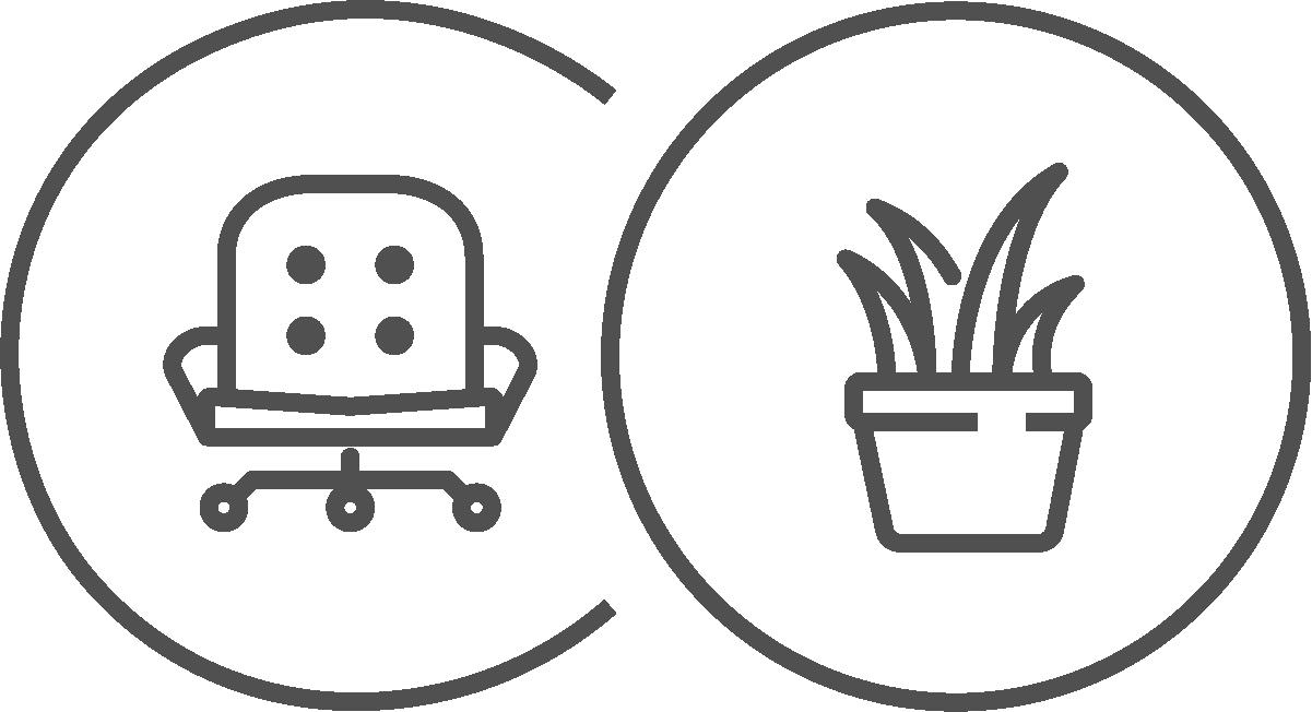 Büroeinrichtung Icons