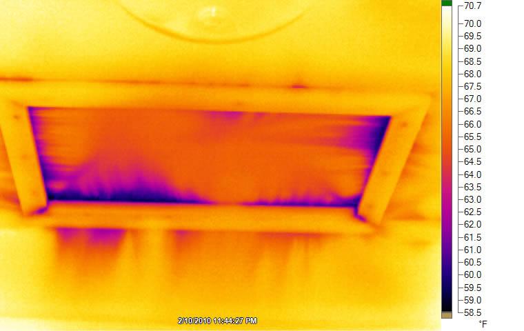 Air leaking around attic hatch