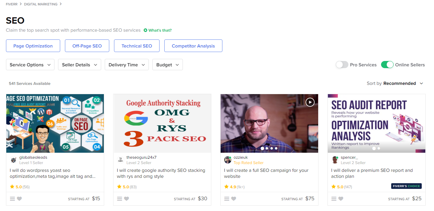Fiverr praise and pros