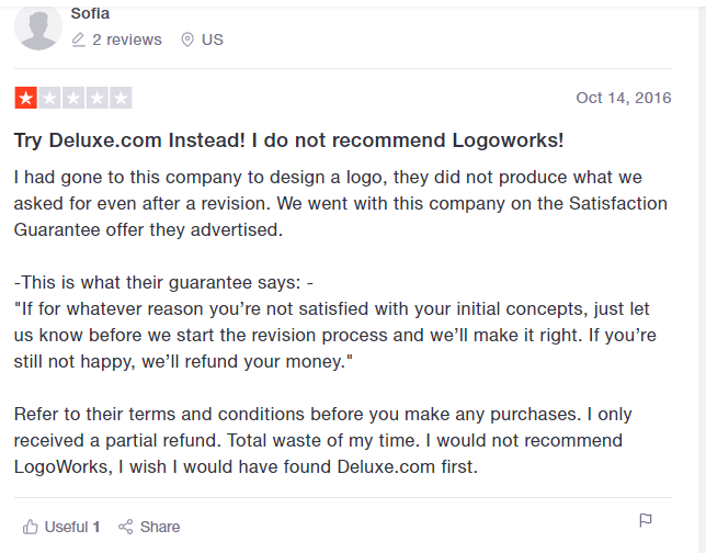 Negative Logoworks Reviews