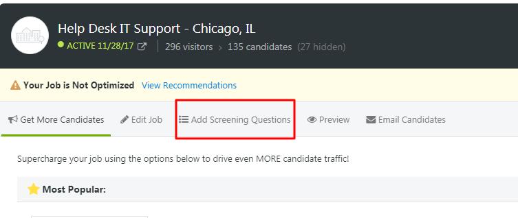 ZipRecruiter's screening process