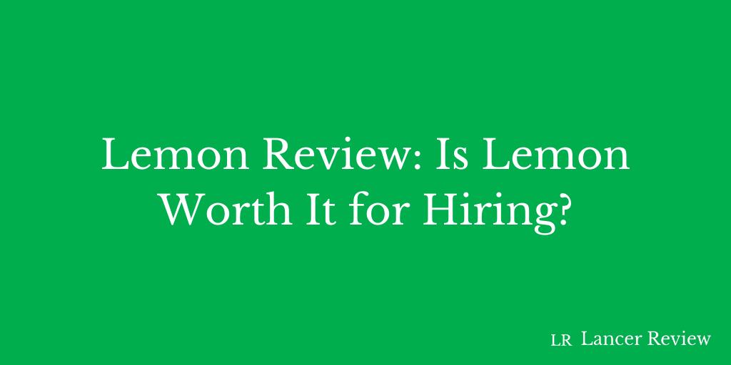 Lemon.io Review