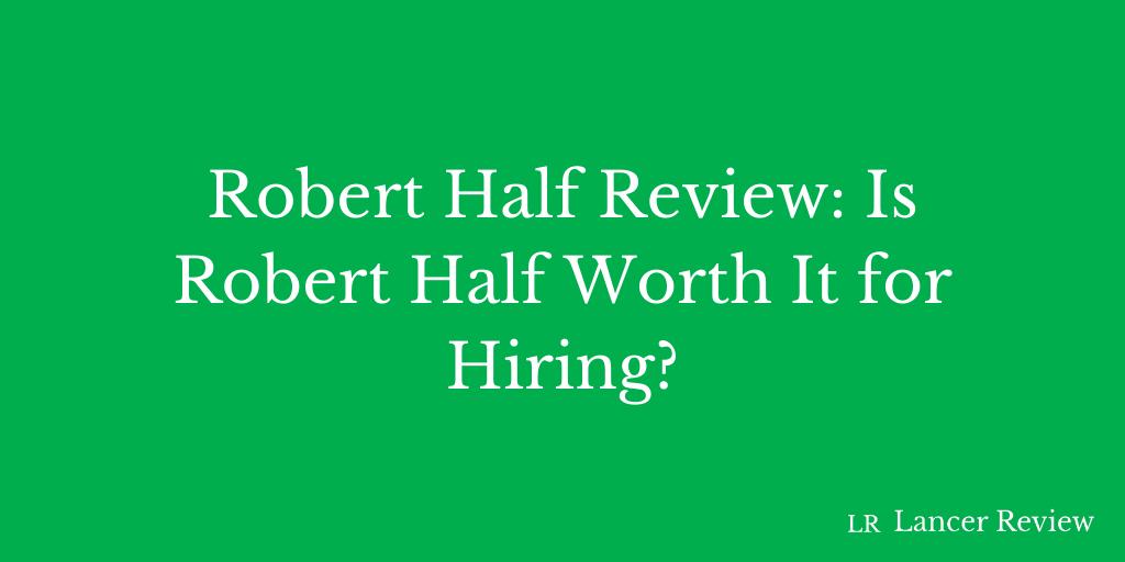 Robert Half Review