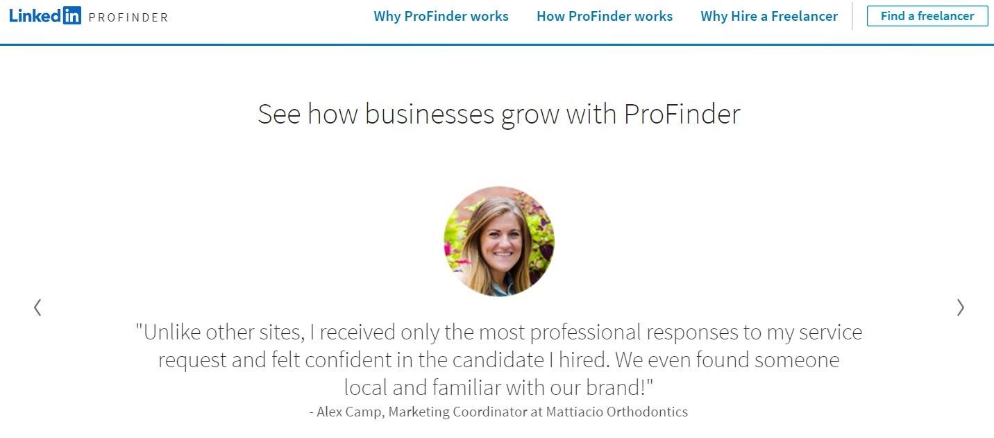 LinkedIn ProFinder praise and pros