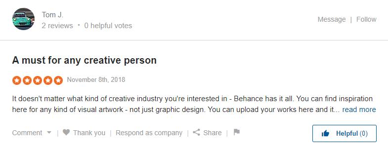 Behance reviews on SiteJabber