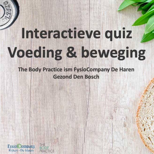 Quiz voeding & beweging
