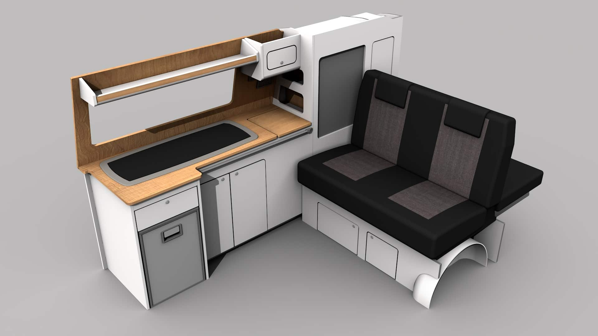 A campervan conversion called the drifter by Taylored Campervan Conversions