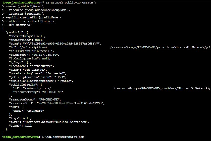 Azure IP public prefix
