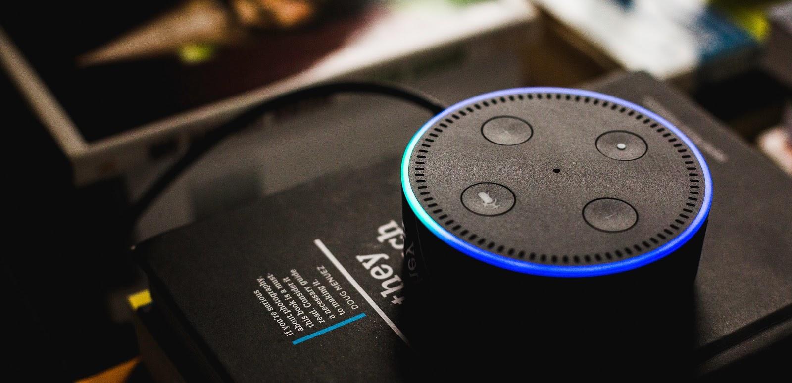 A photo of an Amazon Alexa.
