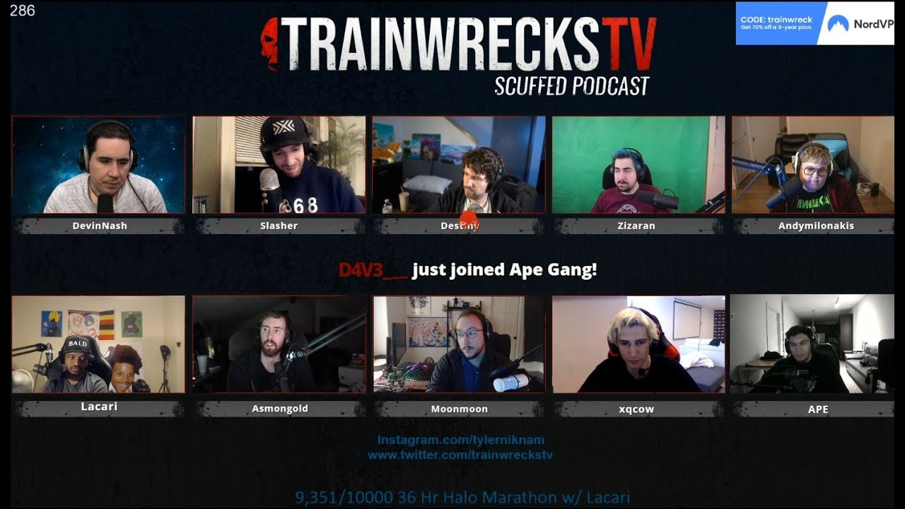 trainwreckstv podcast