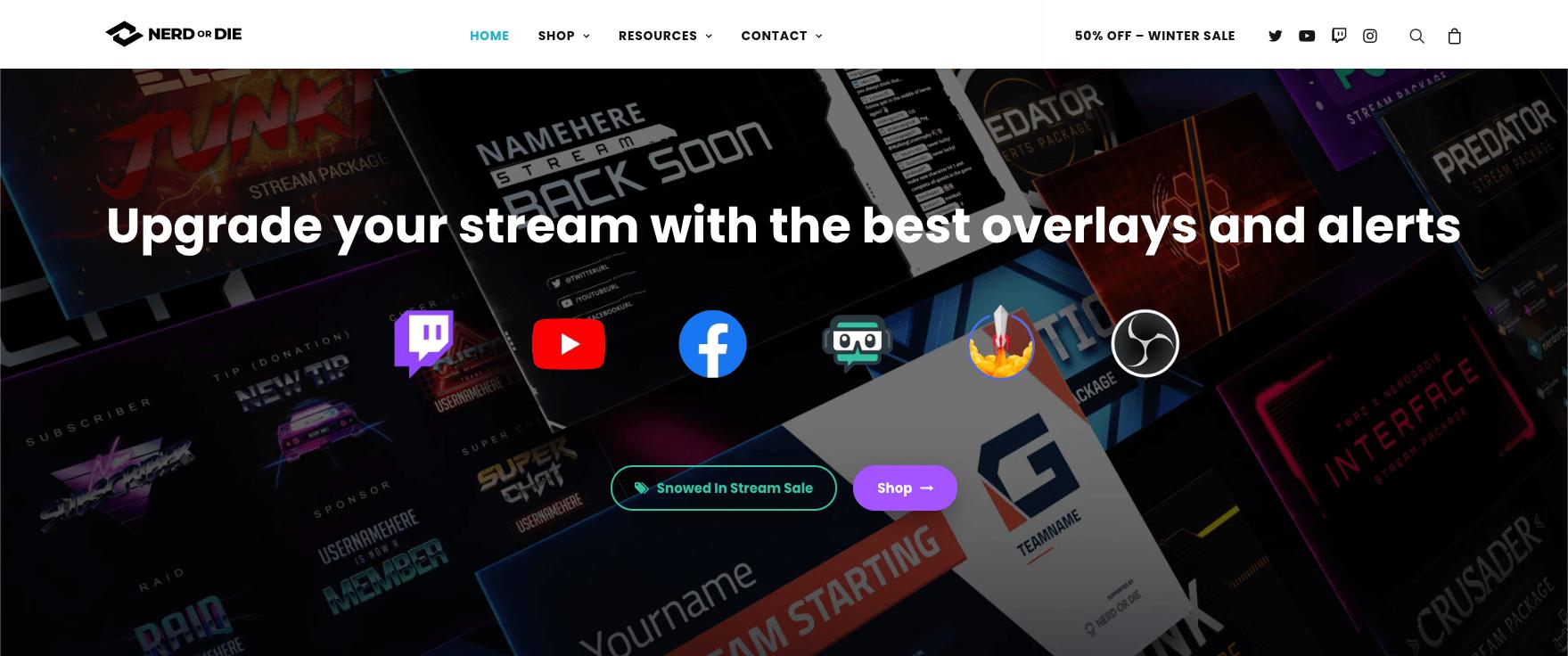Nerd or Die Homepage