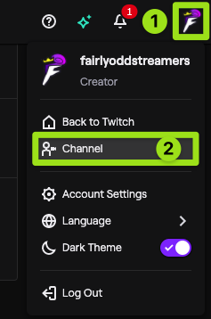 how to setup auto host on twitch - step 1