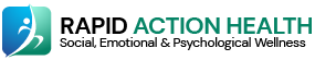 This is an image of Rapid Action Health's logo. Social, Emotional and Psychological wellbeing