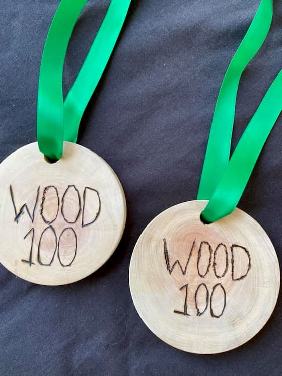 Wood 100 ultramarathon medals