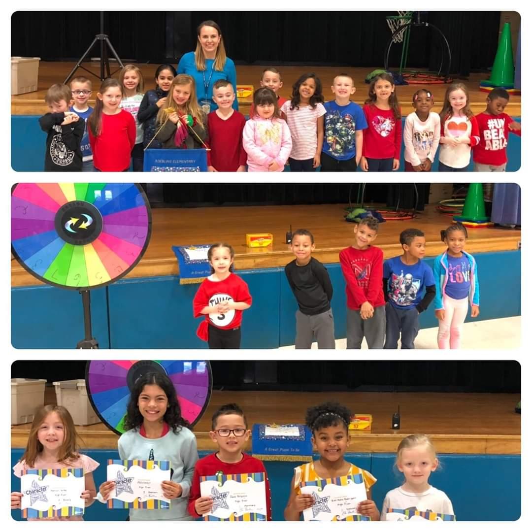 Mrs. Ridgeway's class earned the award.