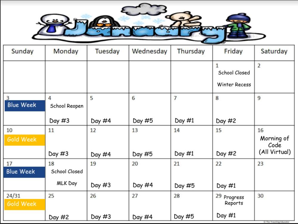 Roebling - January Calendar