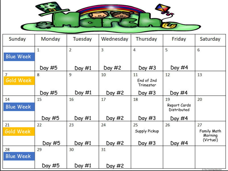Roebling - March Calendar