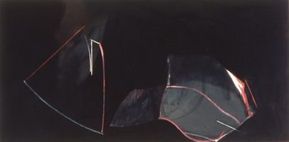 "One/Two • Oil on Canvas, 35"" x 74"" • 1976"