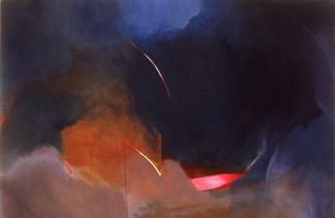 "Elegy Body • Oil on Canvas, 44"" x 63"" • 1977"