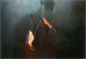 "Yaddo Ghosts • Oil on Canvas, 48"" x 68"" • 1981"
