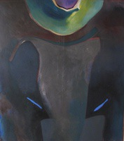 "Amphora • Oil on Canvas, 45"" x 40"" • 1986"