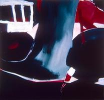 """Composition 01 • Acrylic on Muslin, 50"""" x 60"""" • 1965"""