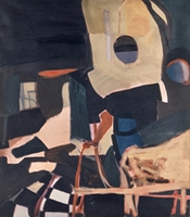 "Cramped Knife • Oil on Canvas, 55"" x 48"" • 1966"