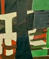 """Denmark • Acrylic on Muslin, 60"""" x 50"""" • 1966"""