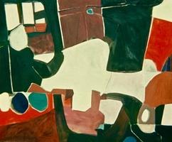 """Elsie's• Acrylic on Muslin, 50"""" x 60"""" • 1966"""