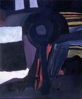 "Untitled October • Oil on Canvas, 60"" x 50"" • 1966"
