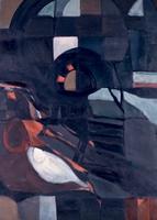 "Fish Still Life • Oil on Canvas, 41"" x 30"" • 1967"