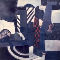 "Haberdashery • Acrylic on Muslin, 55"" x 55"" • 1967"