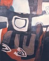 """Viet Nam Battlefield • Oil on Canvas, 50"""" x 39"""" • 1967"""