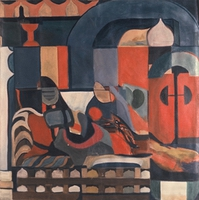 "Moroccan Interior • Acrylic on Canvas, 50"" x 50"" • 1968"