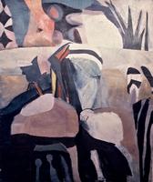 "Moroccan Landscape • Acrylic on Canvas, 60"" x 50"" • 1968"