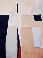 "Flower Spreading Landscape • Acrylic on Canvas, 48"" x 36"" • 1970"