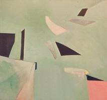 "Sweet-Pee's Space • Acrylic on Canvas, 32"" x 32"" • 1970"