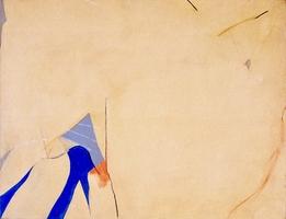 """Blue Melt Buffalo • Acrylic on Canvas, 35"""" x 45"""" • 1971"""