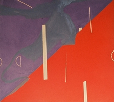 "Red/Purple • Acrylic on Canvas, 45"" x 50"" • 1971"