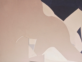 """Aubergine • Acrylic on Canvas, 45"""" x 58"""" • 1971"""