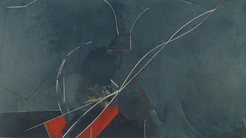 "Paley's Fifth • Oil on Canvas, 45"" x 80"" • 1975"