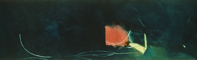 "Ocean II • Oil on Canvas, 24"" x 80"" • 1976"