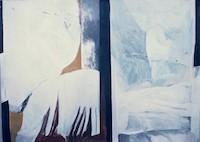 Winter Landscape* Acrylic on Canvas* 49'' x 64'' 1968