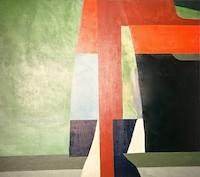 Separating Landscape Acrylic on Canvas, 68'' x 74'' 1968