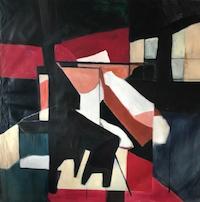 "After Brueghel • Acrylic on Muslin, 50"" x 50"" • 1966"